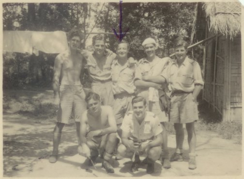 Group Photo Patharkandi India 1944 Nobby Noble, Ken Rolls, Kipper Smith, Stanley Chilton, Tubby Long, Sgt Kitchen, Frank Forsyth