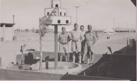 Sgts at Heliopolis 1938 or 1939 Left to right - F/Sgt Dick Allen, others unknown. Note the senior age of all these men. 113 Squadron  SOURCE/COPYRIGHT: John Allen, son of F/Sgt (W/O) Dick Allen